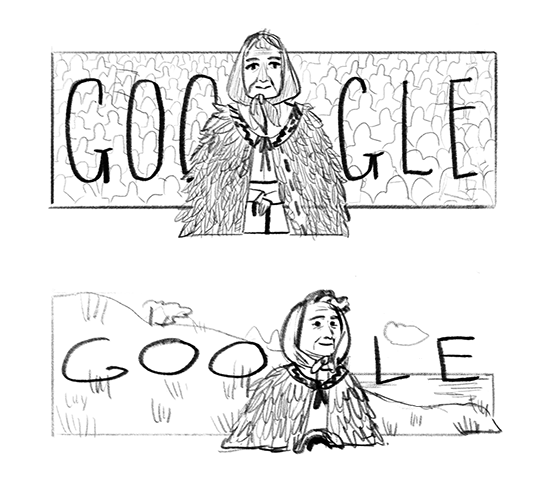 Google Doodle of Whaea Dame Whina Cooper